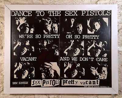 SEX PISTOLS  -pretty Vacant- 1977 Promotional Poster (UK) • 500£