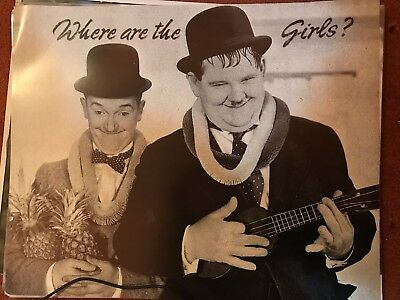 250 X Joblot Trade Laurel & Hardy Where Are The Girls, Poster (16 X20 )Art Photo • 50£