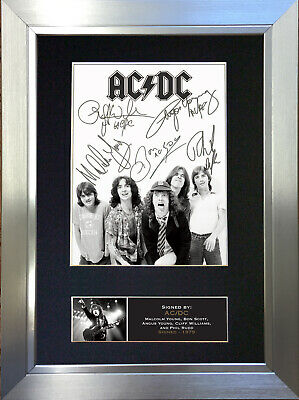 ACDC Rock Band Signed Autograph Mounted Photo Repro A4 Print 689 • 18.99£