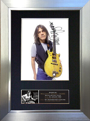 MALCOLM YOUNG ACDC Signed Autograph Mounted Photo Repro A4 Print 690 • 18.99£