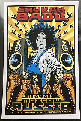 2008 Erykah Badu - Moscow Silkscreen Concert Poster Signed And Numbered By EMEK • 118.22£