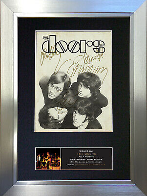 THE DOORS No2 Signed Autograph Mounted Photo Repro A4 Print 694 • 18.99£