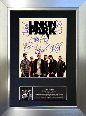 LINKIN PARK Signed Autograph Mounted Photo Repro A4 Print 705 • 18.99£