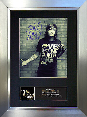KELLIN QUINN Signed Autograph Mounted Photo Repro A4 Print 706 • 5.99£