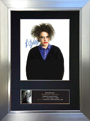 ROBERT SMITH The Cure Signed Autograph Mounted Photo Repro A4 Print 708 • 18.99£