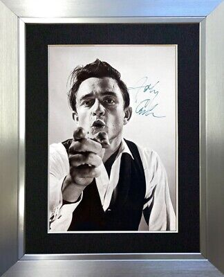 #37 JOHNNY CASH A5 Signed Reproduction Autograph Mounted Print • 16.99£