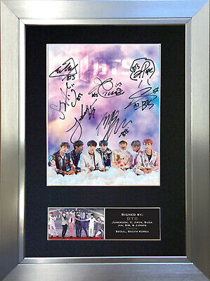 BTS No2 Signed Autograph Mounted Photo Repro A4 Print 760 • 5.99£