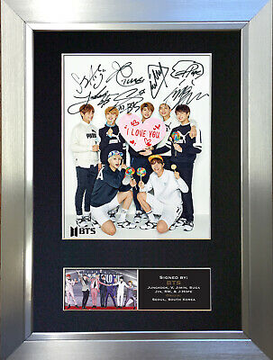 BTS No3 Signed Autograph Mounted Photo Repro A4 Print 761 • 5.99£