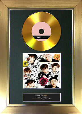 GOLD DISC BTS I Need U Signed Autograph Mounted Print A4 175 • 8.99£