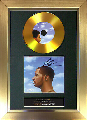 GOLD DISC DRAKE Nothing Was The Same Signed Autograph Mounted Print A4 161 • 8.99£