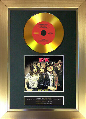 GOLD DISC ACDC Highway To Hell Signed Reproduction Autograph Mounted Print 150 • 8.99£