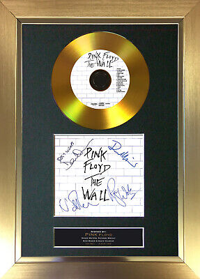 GOLD DISC PINK FLOYD The Wall Signed Autograph Mounted Print A4 115 • 20.99£