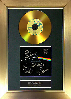 GOLD DISC PINK FLOYD Dark Side Of The Moon Signed Autograph Mounted Print A4 96 • 8.99£