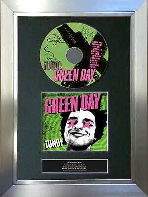 GREEN DAY Uno Signed Autograph CD & Cover Mounted Print A4 32 • 20.99£