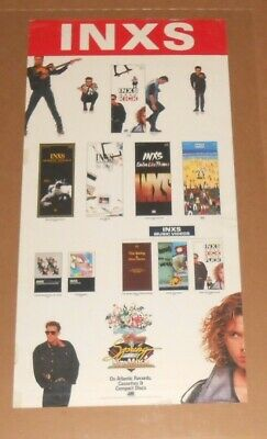 INXS Spring For New Music Promo Poster Original Vintage Michael Hutchence • 17£