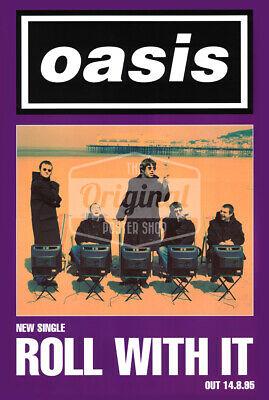 Oasis Promo Poster - Roll With It (1st Generation Reprint) • 24.99£