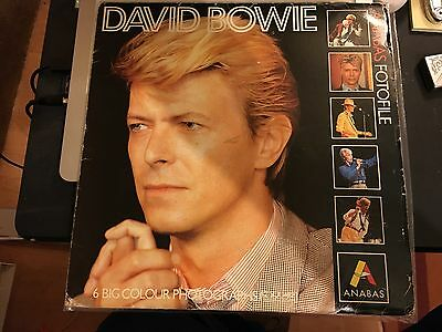 David Bowie Anabas Fotofile Lp Shaped File Of 6 1985 Printed In England. • 35£