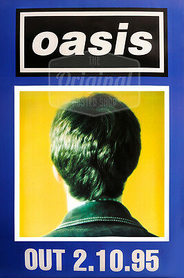 Original Litho-printed Oasis Tour Poster - Whats The Story Morning Glory (blue) • 29.99£
