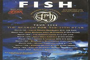 FISH Search For The 13Th Star FLYER UK Gig Cartel 2008 Double Sided Tour Flyer • 2.09£