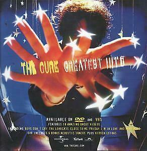 CURE Greatest Hits POSTER UK Fiction Double Sided 12  By 12  Display Poster For • 2.63£