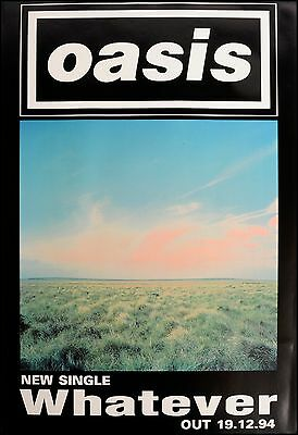 Original Litho-printed Oasis Tour Poster - Whatever . Rare • 34.99£