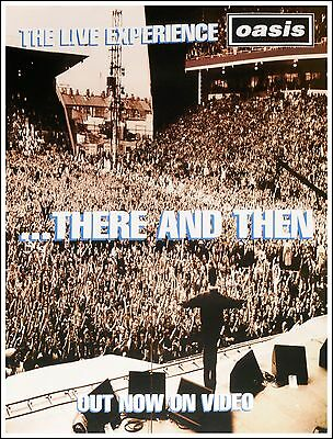 Original Litho-printed Oasis Tour Poster - There And Then • 19.99£