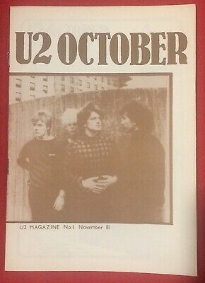 U2 NUMBER ONE Magazine Pre-Propaganda November 81 Genuine Official Promo • 49.99£