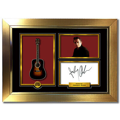 JOHNNY CASH Signed Autograph Reproduction A4 Print 798 • 18.99£