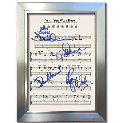 PINK FLOYD Wish You Were Here MUSIC SHEET Signed Autograph Photo Repro A4 804 • 18.99£