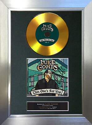 GOLD DISC LUKE COMBS This One's For You Signed Autograph Mounted Print A4 191 • 19.99£