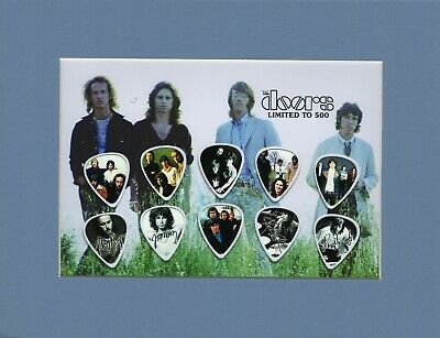 Doors Matted Picture Guitar Pick Set Limited Light My Fire Love Her Madly • 22£