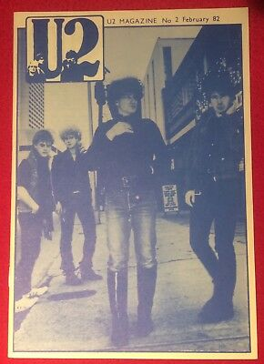 U2 NUMBER TWO Magazine Pre-Propaganda February 82 Genuine Official Promo • 29.99£