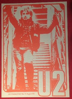 U2 NUMBER FOUR Magazine Pre-Propaganda August 82 Genuine Official Promo • 29.99£