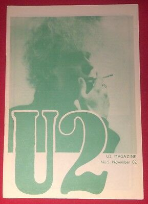U2 NUMBER FIVE Magazine Pre-Propaganda November 82 Genuine Official Promo • 29.99£