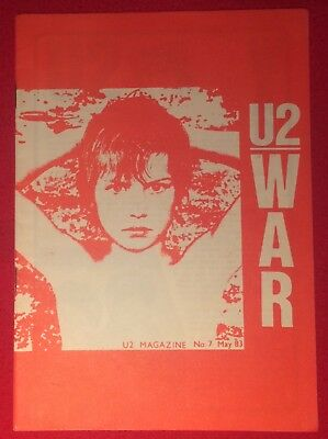 U2 NUMBER SEVEN Magazine Pre-Propaganda May 83 Genuine Official Promo • 29.99£