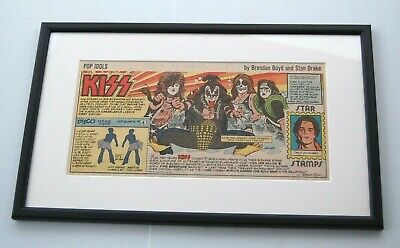 Kiss Framed Gene Simmons Paul Stanley Pete Criss Ace Freshley May 6 1979 • 149£