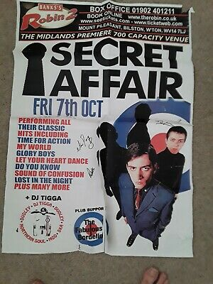 Secret Affair Signed Gig Poster Mod Band The Jam Chords Purple Hearts Scooter  • 39.95£