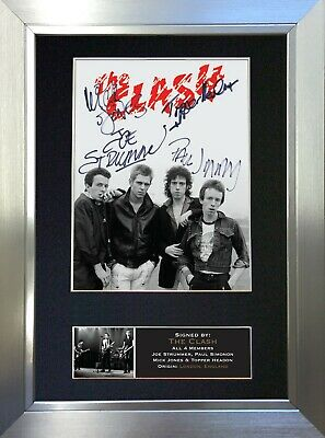 THE CLASH Signed Autograph Mounted Photo Reproduction A4 Print 608 • 18.99£
