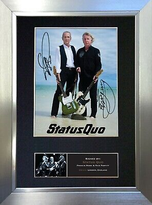 STATUS QUO Signed Autograph Mounted Photo Reproduction A4 Print 456 • 18.99£