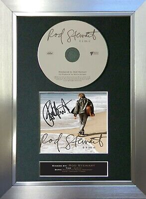 ROD STEWART Time Album Signed Autograph CD & Cover Mounted Print A4 30 • 19.99£