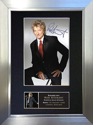 ROD STEWART No1 Signed Autograph Mounted Photo Reproduction A4 Print 60 • 18.99£
