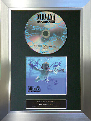 NIRVANA Nevermind Album Signed Autograph CD & Cover Mounted Print A4 20 • 19.99£