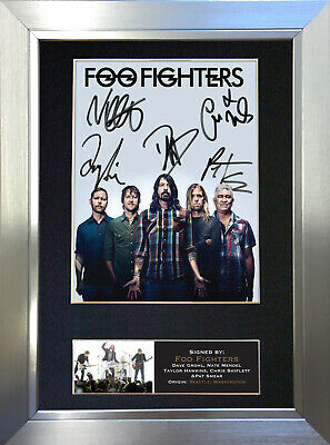 FOO FIGHTERS No2 Signed Autograph Mounted Photo Reproduction A4 Print 597 • 18.99£