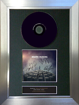 IMAGINE DRAGONS Night Visions Signed Autograph CD & Cover Mounted Print A4 19 • 19.99£
