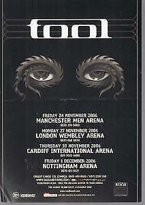 TOOL Uk Tour 2006 FLYER UK 2006 A5 Single-Sided Tour Flyer. Crease Across Middle • 10.50£