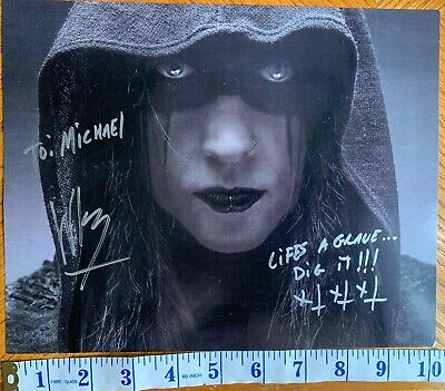 Wednesday 13 Signed Lined Dedicated Photo Wed Murderdolls FDQ Shock Rock Horror • 39.99£