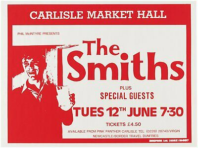 The Smiths Carlisle Market Hall Concert Repro Poster A3 • 6.99£
