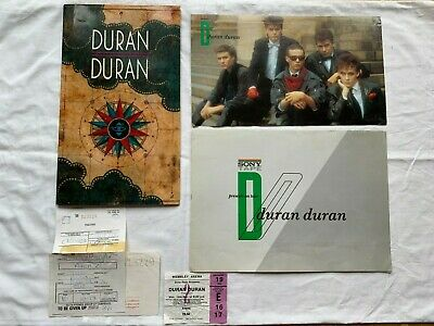 Duran Duran Seven And The Ragged Tiger 1983 Tour Programme Ticket Stub & Poster • 30£