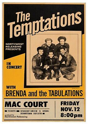 Reproduction Motown  The Temptations  Poster • 10£