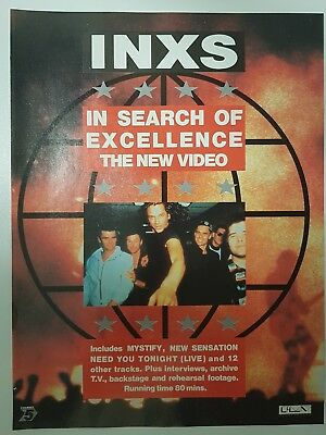 INXS Magazine Print Ad For Video In Search Of EXCELLENCE App 23x30cm  • 0.99£